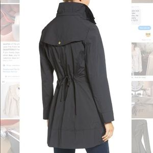 Cole Haan Back Bow Packable Hooded Jacket